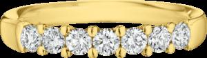 Memoirering Christian Bauer aus 750 Gelbgold mit 7 Brillanten (0,5 Karat)