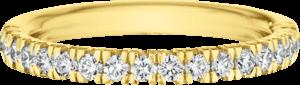 Memoirering Christian Bauer aus 750 Gelbgold mit 18 Brillanten (0,39 Karat)