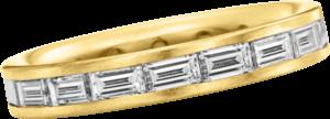 Memoirering Christian Bauer aus 750 Gelbgold mit 18 Diamanten (1,95 Karat)