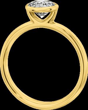 Solitairering Christian Bauer aus 750 Gelbgold mit 1 Brillant (0,2 Karat)