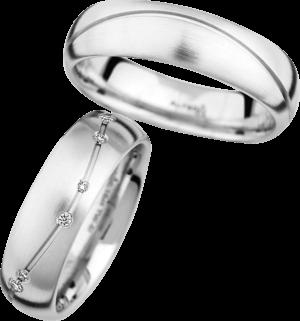 Trauring Christian Bauer aus 750 Weißgold mit 14 Diamanten (0,16 Karat)