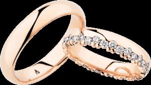 Trauring Christian Bauer aus 750 Roségold mit 34 Diamanten (0,76 Karat)