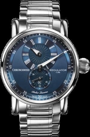 Armbanduhr Chronoswiss Regulator Classic mit blauem Zifferblatt und Edelstahlarmband