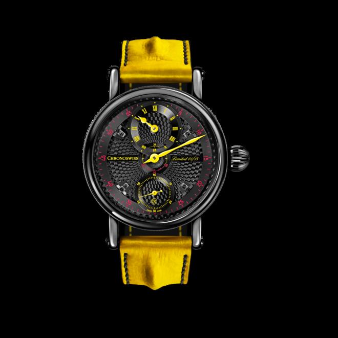 Herrenuhr Chronoswiss Flying Grand Regulator Limited Edition mit schwarzem Zifferblatt und Alligatorenleder-Armband bei Brogle