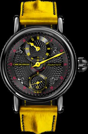 Herrenuhr Chronoswiss Flying Grand Regulator Limited Edition mit schwarzem Zifferblatt und Alligatorenleder-Armband