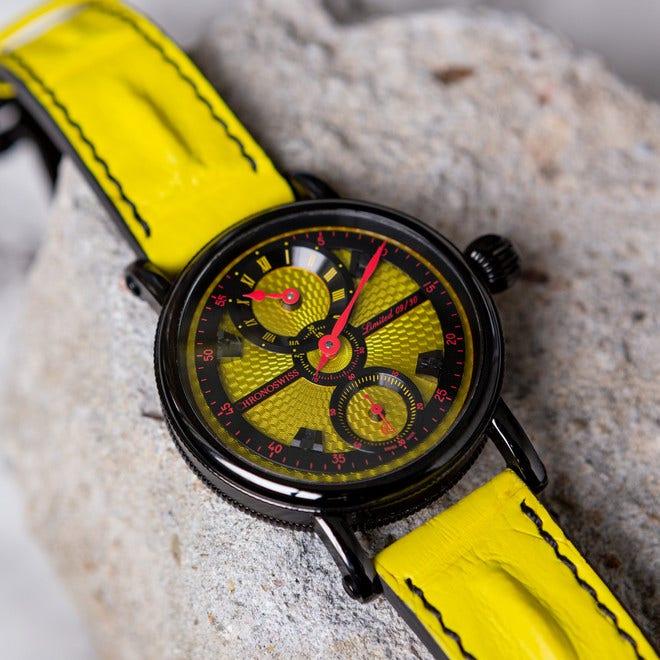 Herrenuhr Chronoswiss Flying Grand Regulator Limited Edition mit zweifarbigem Zifferblatt und Alligatorenleder-Armband bei Brogle