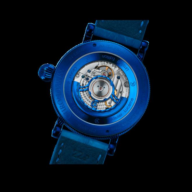 Herrenuhr Chronoswiss Flying Grand Regulator Open Gear ReSec mit blauem Zifferblatt und Krokodilleder-Armband bei Brogle