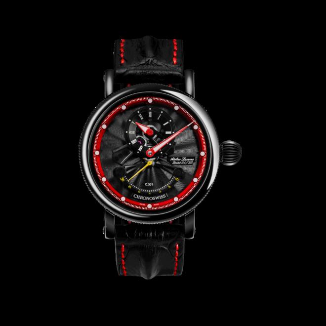 Herrenuhr Chronoswiss Flying Grand Regulator Open Gear ReSec, Limited Edition mit zweifarbigem Zifferblatt und Krokodilleder-Armband bei Brogle