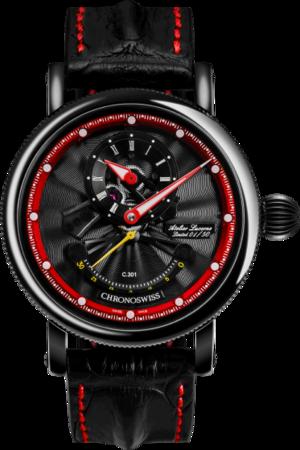 Herrenuhr Chronoswiss Flying Grand Regulator Open Gear ReSec, Limited Edition mit zweifarbigem Zifferblatt und Krokodilleder-Armband