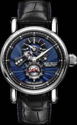 Armbanduhr Chronoswiss Flying Regulator Open Gear Anniversary Edition mit zweifarbigem Zifferblatt und Alligatorenleder-Armband