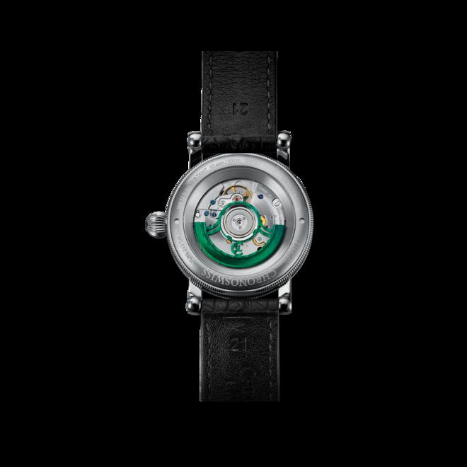 Armbanduhr Chronoswiss Flying Regulator Open Gear Limited Edition mit grünem Zifferblatt und Alligatorenleder-Armband bei Brogle