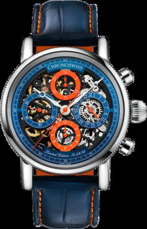 Herrenuhr Chronoswiss Opus Chronograph 41mm mit zweifarbigem Zifferblatt und Alligatorenleder-Armband