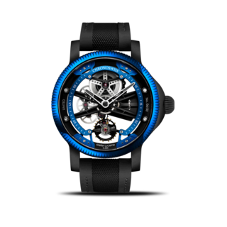 Chronoswiss Herrenuhr Skeltec Azur 45mm CH-3718-BKBLB