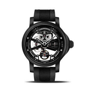 Chronoswiss Herrenuhr Skeltec Pitch Black 45mm CH-3715M-BKBK