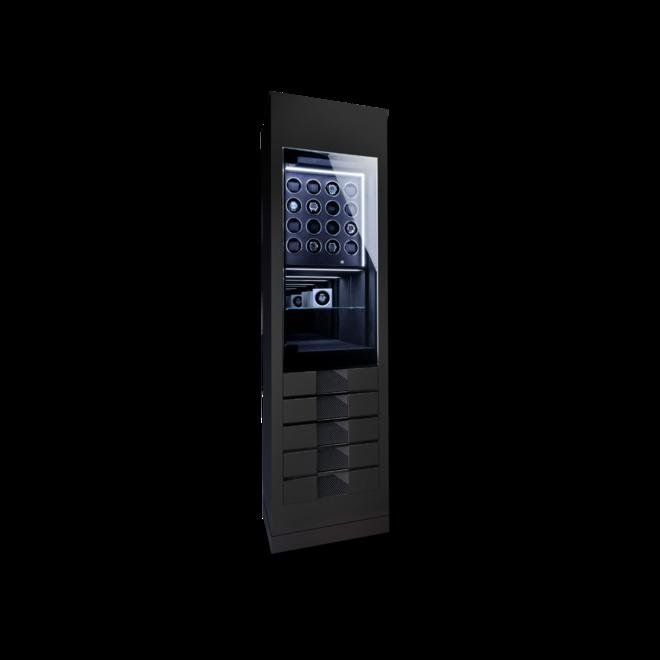 Uhrenbeweger Chronovision Momentum 16 - Schwarz Hochglanz / Karbon aus Holz/MDF und Carbon bei Brogle