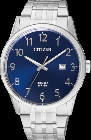 Herrenuhr Citizen Basic mit blauem Zifferblatt und Edelstahlarmband