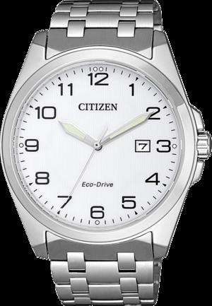 Herrenuhr Citizen Basic mit weißem Zifferblatt und Edelstahlarmband