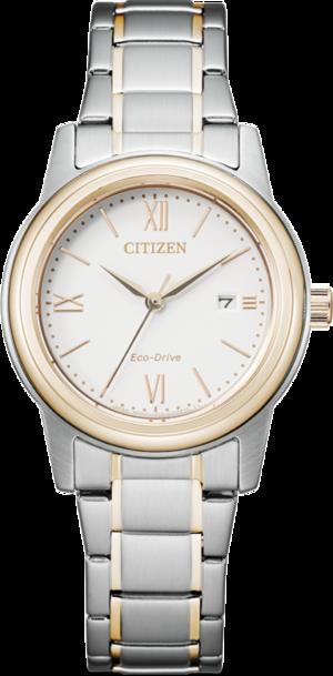 Damenuhr Citizen Basic Quarz 30mm mit weißem Zifferblatt und Edelstahlarmband