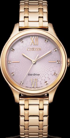 Damenuhr Citizen Basic Quarz 32mm mit roséfarbenem Zifferblatt und Edelstahlarmband