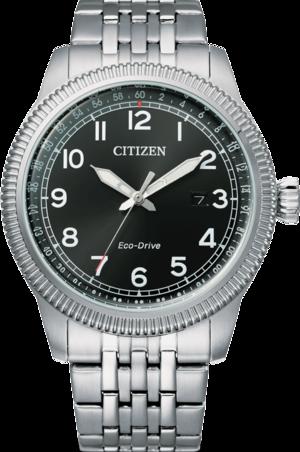 Herrenuhr Citizen Basic Quarz 43mm mit grauem Zifferblatt und Edelstahlarmband