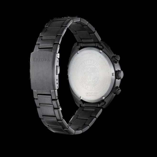 Herrenuhr Citizen Basic Quarz Chronograph 41mm mit schwarzem Zifferblatt und Edelstahlarmband bei Brogle