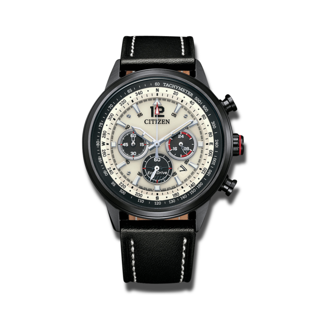 Herrenuhr Citizen Basic Quarz Chronograph 44mm mit Kalbsleder-Armband bei Brogle