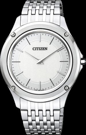Armbanduhr Citizen Eco-Drive One mit weißem Zifferblatt und Edelstahlarmband