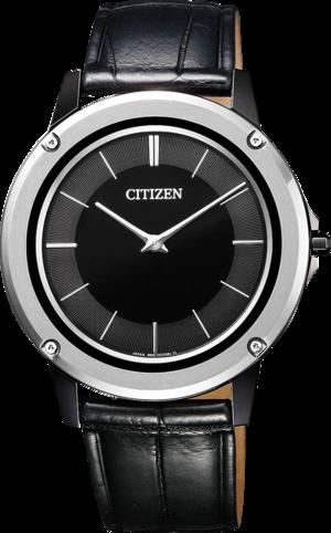 Herrenuhr Citizen Eco-Drive One mit zweifarbigem Zifferblatt und Alligatorenleder-Armband