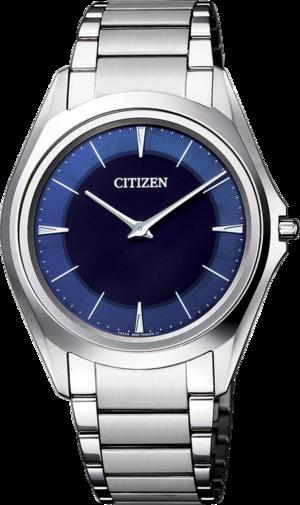 Herrenuhr Citizen Eco-Drive One mit blauem Zifferblatt und Titaniumarmband