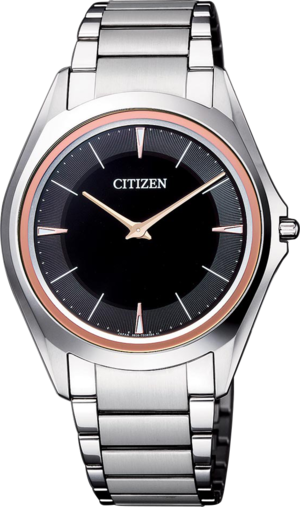 Herrenuhr Citizen Eco-Drive One mit grauem Zifferblatt und Titaniumarmband