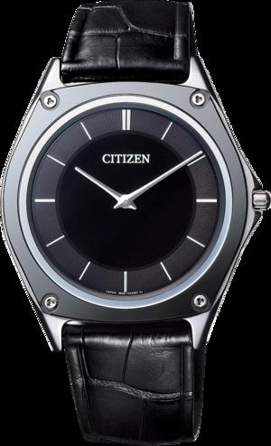 Herrenuhr Citizen Eco-Drive One mit grauem Zifferblatt und Krokodilleder-Armband