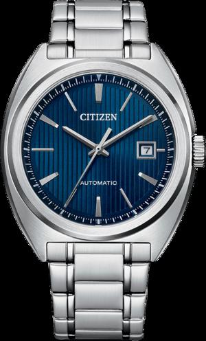 Herrenuhr Citizen Elegant Automatik 42mm mit blauem Zifferblatt und Edelstahlarmband