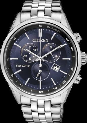 Herrenuhr Citizen Elegant Chrono mit blauem Zifferblatt und Edelstahlarmband