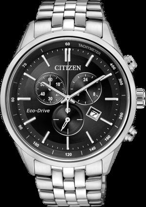 Herrenuhr Citizen Elegant Chrono mit schwarzem Zifferblatt und Edelstahlarmband