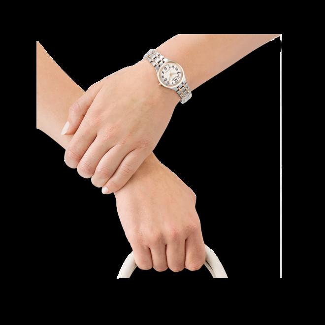 Damenuhr Citizen Elegant Damen mit weißem Zifferblatt und Edelstahlarmband bei Brogle