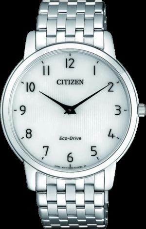 Herrenuhr Citizen Elegant mit weißem Zifferblatt und Edelstahlarmband