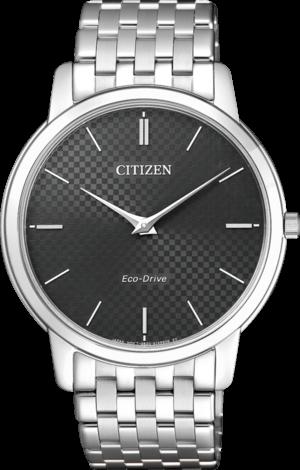 Herrenuhr Citizen Elegant mit schwarzem Zifferblatt und Edelstahlarmband