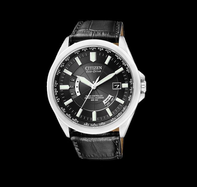 Herrenuhr Citizen Elegant Herren mit schwarzem Zifferblatt und Kalbsleder-Armband bei Brogle