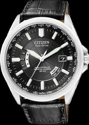 Herrenuhr Citizen Elegant Herren mit schwarzem Zifferblatt und Kalbsleder-Armband