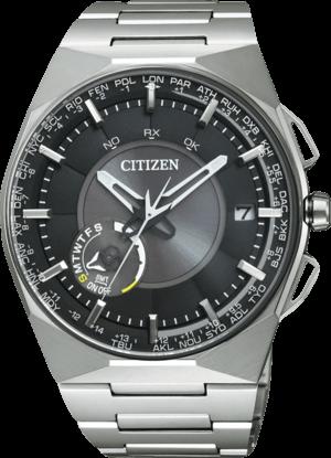 Herrenuhr Citizen Elegant Herren mit schwarzem Zifferblatt und Titaniumarmband