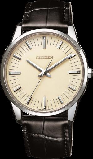 Herrenuhr Citizen Elegant Limited Edition mit beigefarbenem Zifferblatt und Krokodilleder-Armband