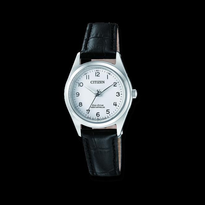 Damenuhr Citizen Elegant Quarz 27,3mm mit weißem Zifferblatt und Kalbsleder-Armband bei Brogle