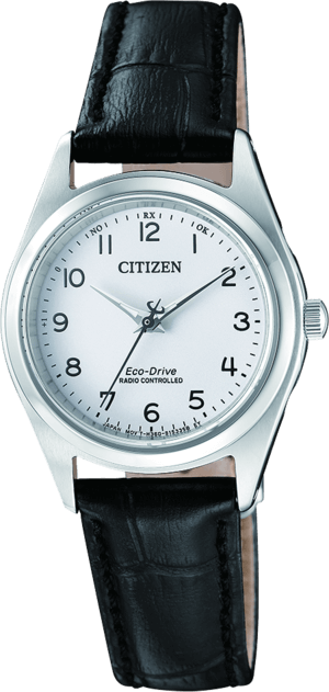 Damenuhr Citizen Elegant Quarz 27,3mm mit weißem Zifferblatt und Kalbsleder-Armband