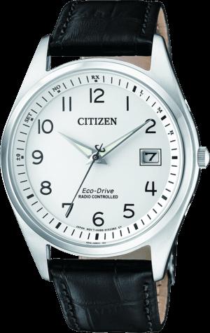 Herrenuhr Citizen Elegant Quarz 39mm mit weißem Zifferblatt und Kalbsleder-Armband