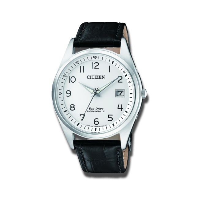 Herrenuhr Citizen Elegant Quarz 39mm mit weißem Zifferblatt und Kalbsleder-Armband bei Brogle