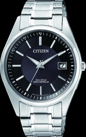 Herrenuhr Citizen Elegant Quarz 39mm mit schwarzem Zifferblatt und Edelstahlarmband