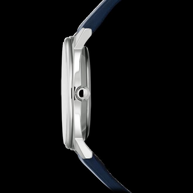 Herrenuhr Citizen Elegant Quarz 40mm mit blauem Zifferblatt und Kalbsleder-Armband bei Brogle