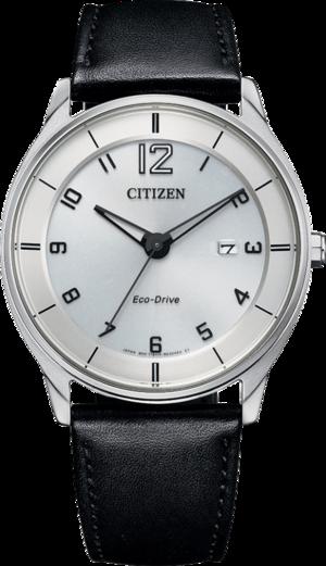Herrenuhr Citizen Elegant Quarz 40mm mit blauem Zifferblatt und Kalbsleder-Armband