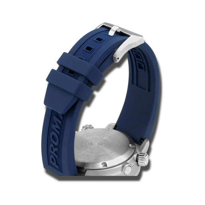 Herrenuhr Citizen Promaster Aqualand mit blauem Zifferblatt und Silikonarmband bei Brogle