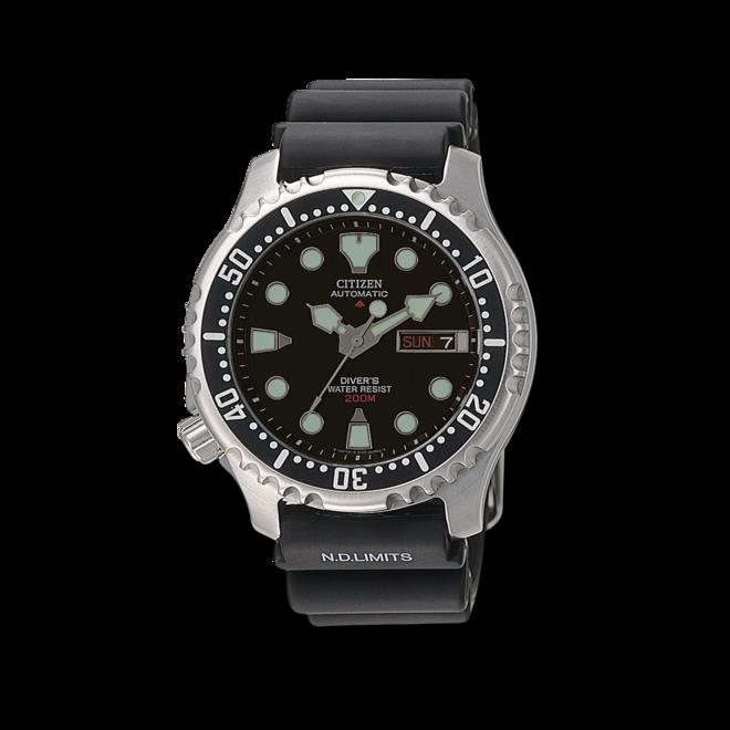 Herrenuhr Citizen Promaster Marine Automatic mit schwarzem Zifferblatt und Urethanarmband bei Brogle